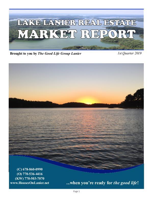 GLG Lake Report - Q1 2019 SalesReport_q1_2019_v3