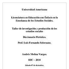 Taller de investigación y producción de los Estudios Sociales