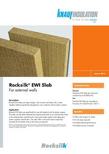 Rocksilk® EWI Slab - For external walls