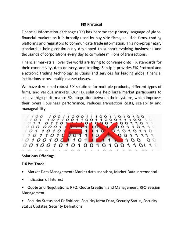 Sensiple FIX Protocol