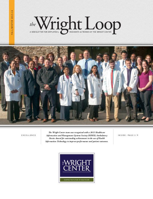 The Wright Loop The Wright Loop | Winter - Spring 2016