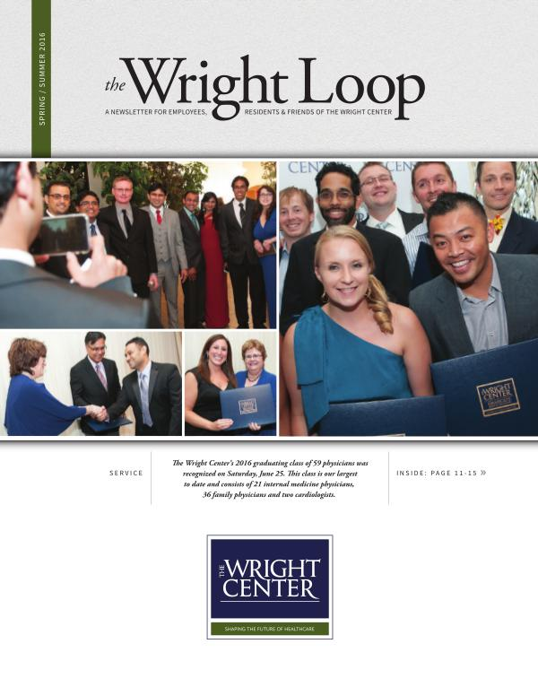 The Wright Loop The Wright Loop | Spring - Summer 2016