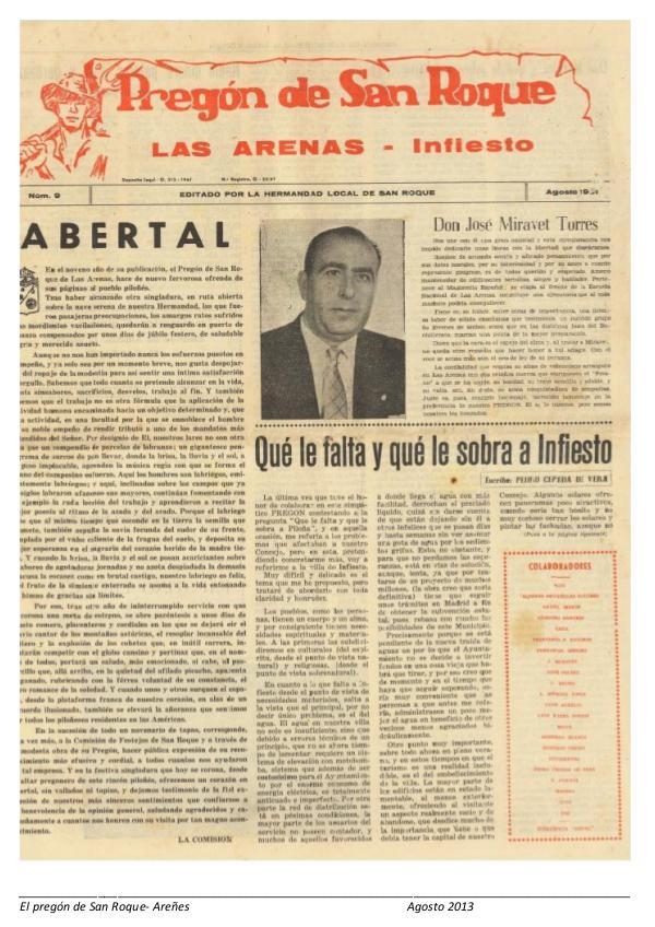 Periódico Pregón de San Roque - Areñes (Piloña Asturias) 2013 Pregón de San Roque -Areñes (Piloña Asturias)
