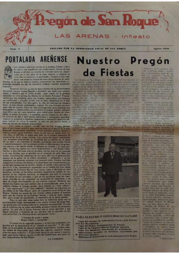 Pregón de San Roque Ejemplar original de 1959