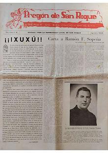 1958 Pregón de S. Roque-Areñes (Piloña Asturias)