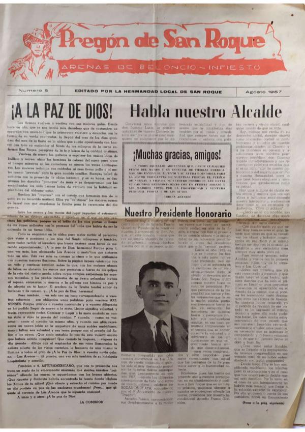 Pregón de San Roque Ejemplar original de 1957