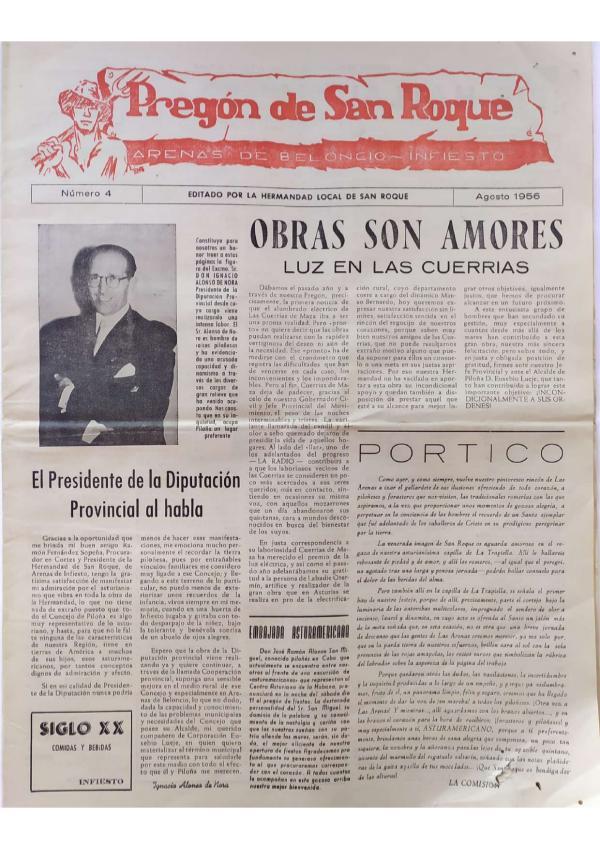 Pregón de San Roque Ejemplar original de 1956(clon