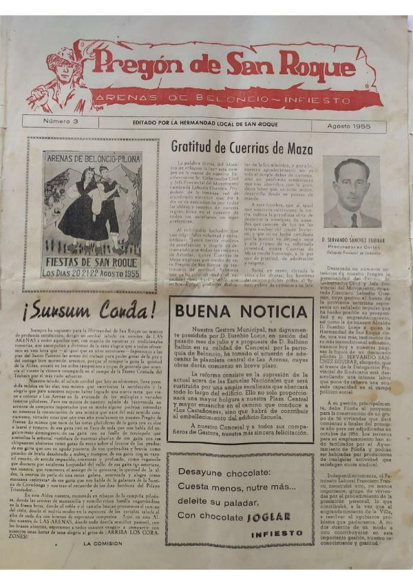 Pregón de San Roque Ejemplar original de 1955