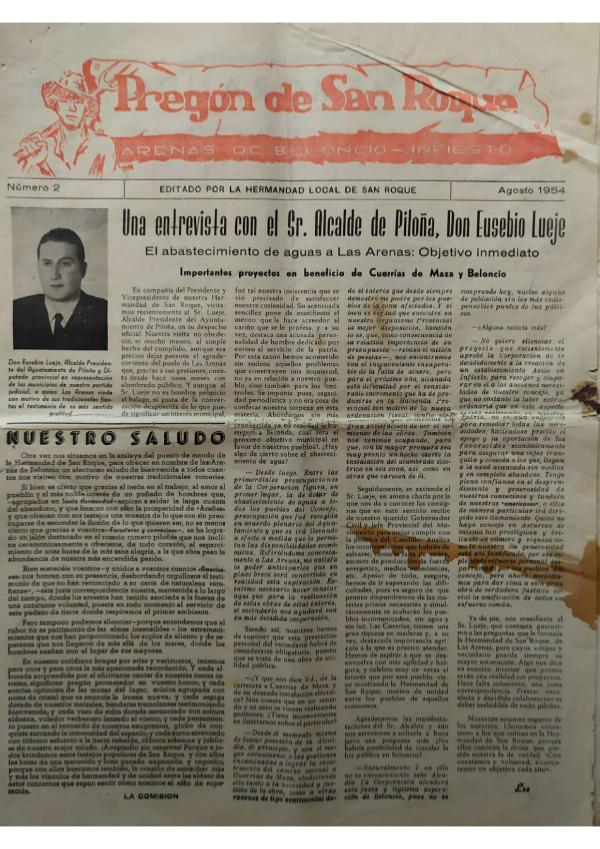 Pregón de San Roque Ejemplar original de 1954