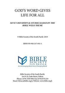 Bible Week Booklet Fijian Version