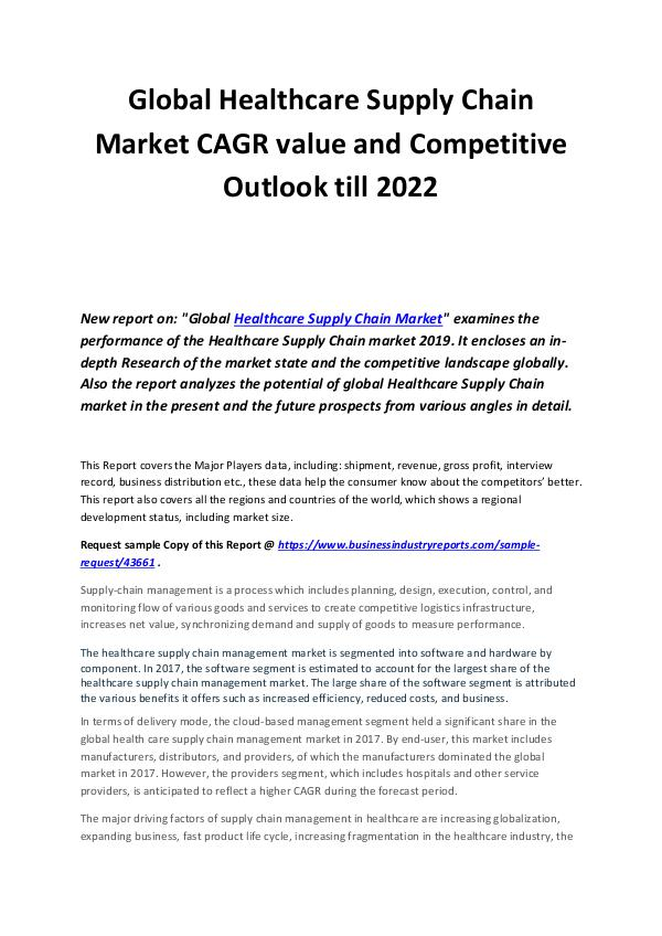Healthcare Supply Chain Market 2023