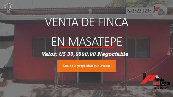 VENTA DE FINCA CON CASA EN MASATEPE finca masatepe