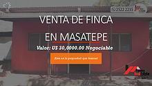 VENTA DE FINCA CON CASA EN MASATEPE