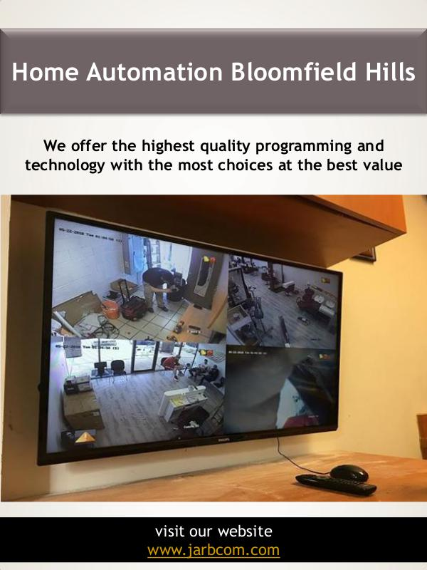 Home Automation Bloomfield Hills | Call - 1-800-36