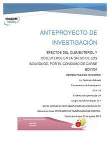 EFECTOS DEL CLEMBUTEROL Y COLESTEROL EN LA SALUD DE LOS INDIVIDUOS, P