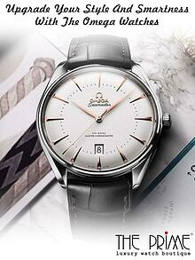 Upgrade Your Style And Smartness With The Omega Watches
