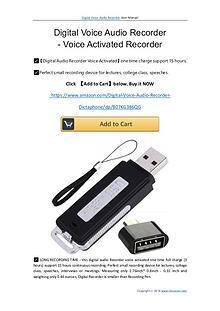 Digital Voice Audio Recorder User Manual