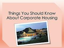 A Corporate Housing PUBLICATION