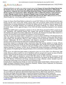 Europe Air Source Heat Pump Market 2018 – 2024 research report