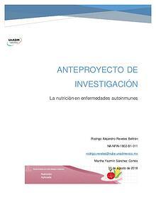 Anteproyecto de Investigación - Rodrigo Reveles