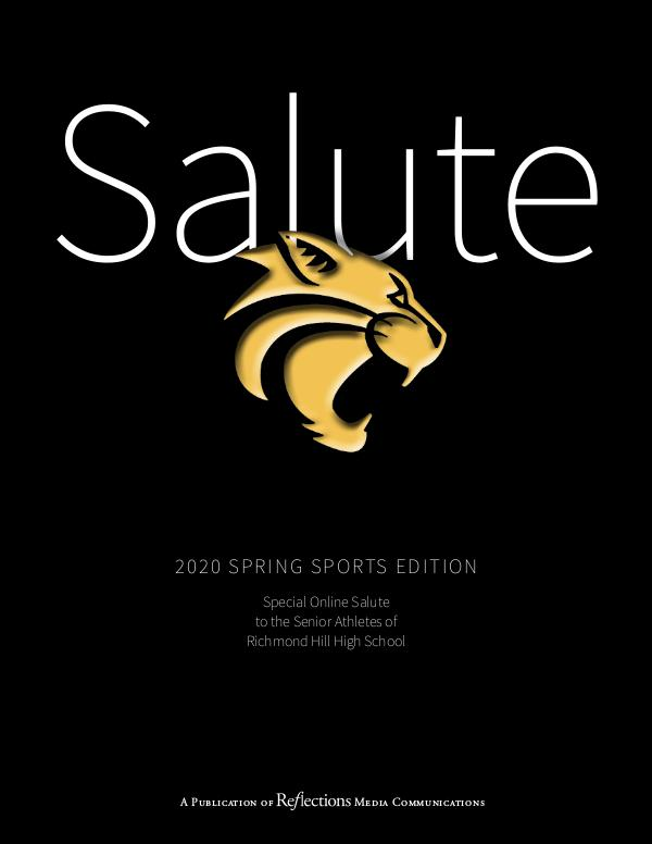 Reflections | Lifestyle Magazine Special Online Edition | Senior Spring Athletes
