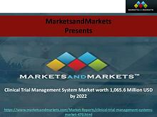 Clinical Trial Management System Market worth 1,065.6 Million USD by