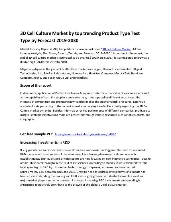 3D Cell Culture Market - Copy