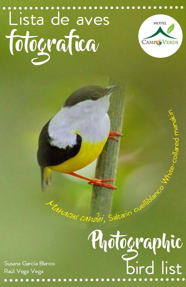 Photographic bird list Campo Verde, Costa Rica Listado fotografico de aves pdf screen