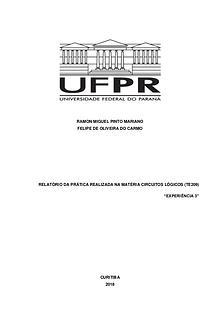 Circuitos lógicos (TE209), Curso de Engenharia Elétrica UFPR.
