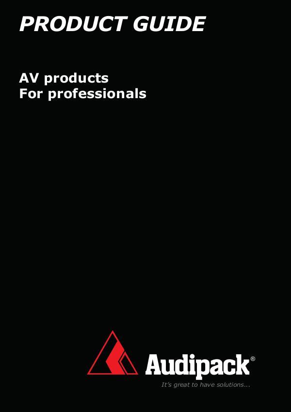 EAVS Catalogues Audipack Catalogue_2018