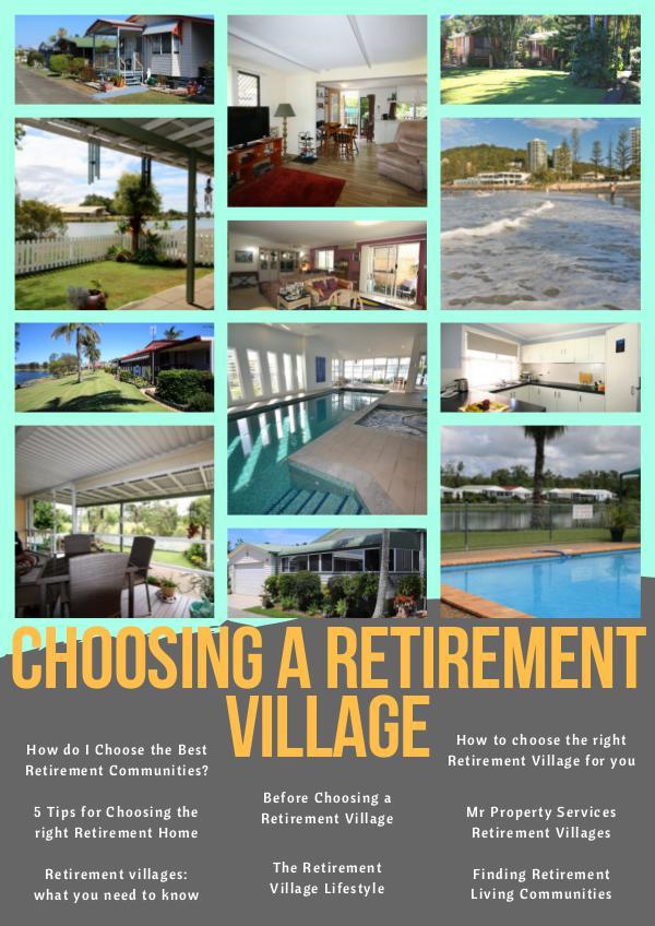 Retirement Village Choosing a Retirement Village