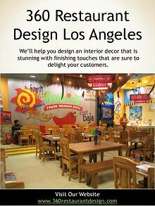 360 Restaurant Design Los Angeles