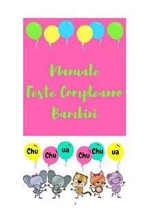 Manuale Feste Compleanno Bambini
