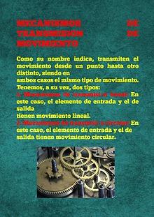 MECANISMO DE TRANSFORMACION DE MOVIMIENTO