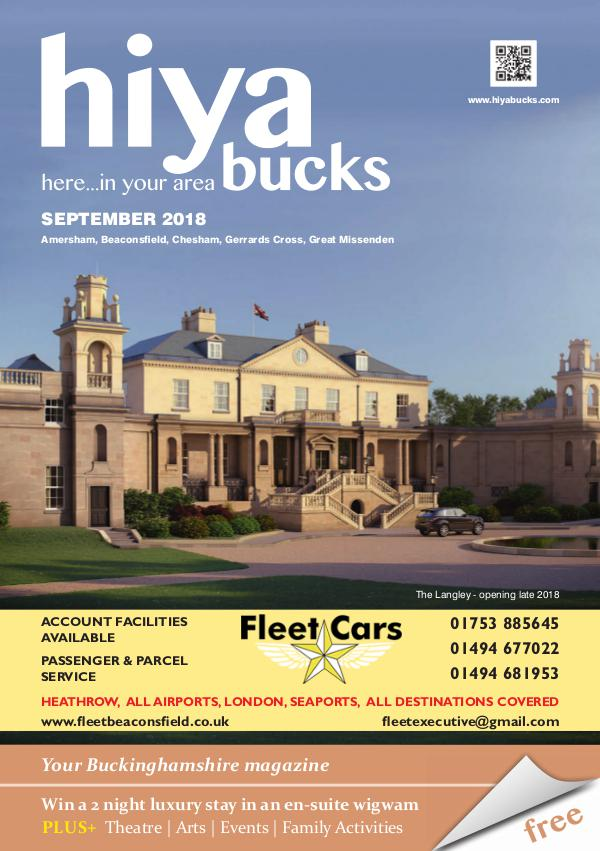 hiya bucks Amersham, Beaconsfield, Chesham, Gerrards Cross, Missenden September 2018