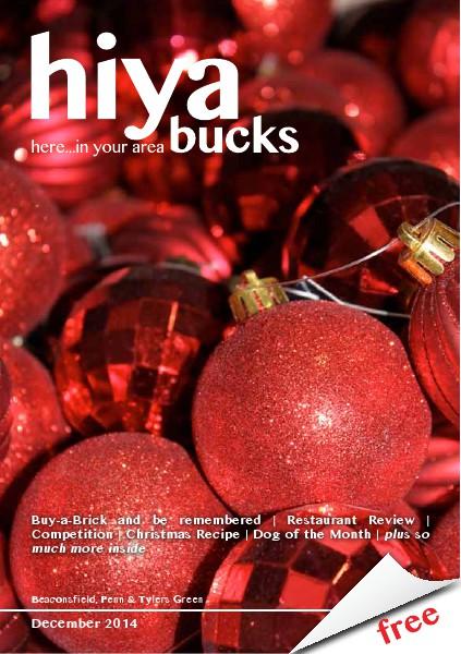 hiya bucks Amersham, Beaconsfield, Chesham, Gerrards Cross, Missenden December 2014