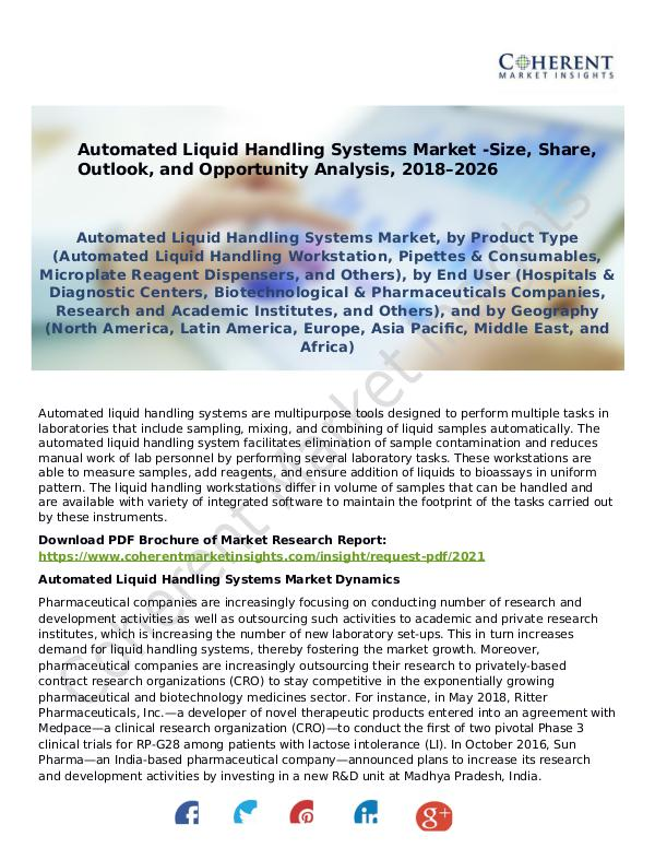 Automated Liquid Handling Systems Market -Size, Share, Outlook Automated Liquid Handling Systems Market PDF Forma