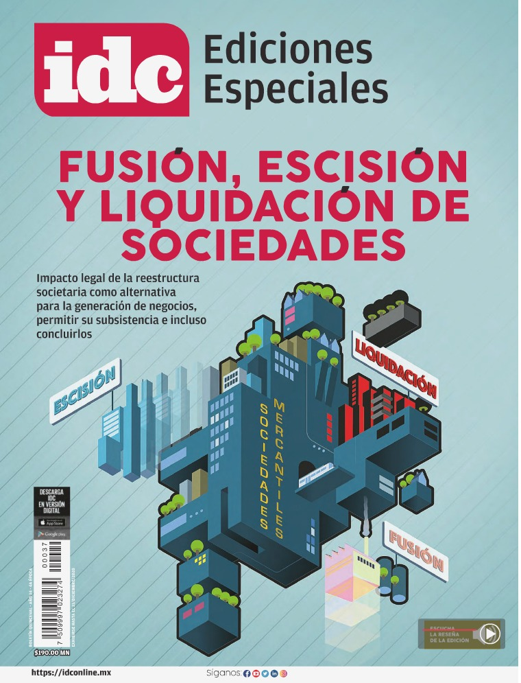 FUSIÓN, ESCISION Y LIQUIDACIÓN DE SOCIEDADES Sep20