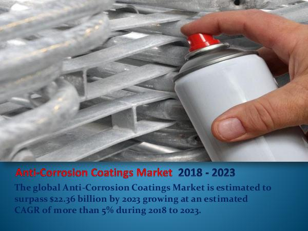 Anticorrosion Coatings Market Report 2018-2023