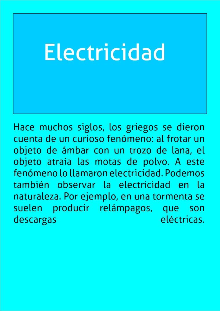 Electricidad electricidad