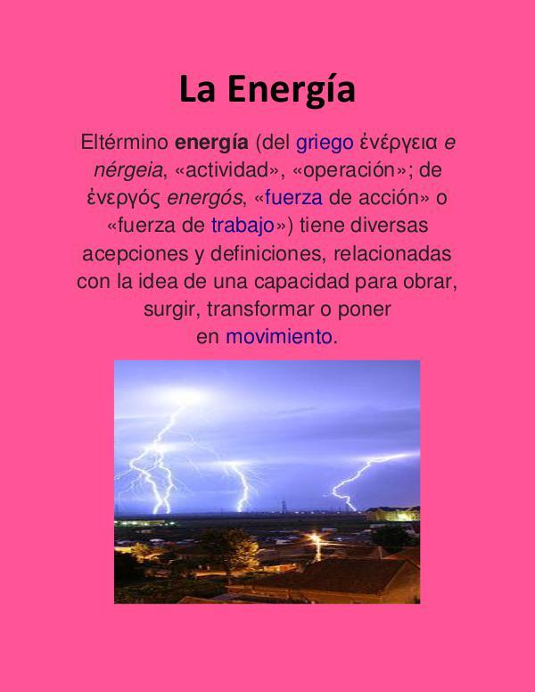 LA ENERGIA LA ENERGIAAA