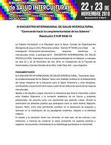 Tercer encuentro internacional de Salud Intercultural