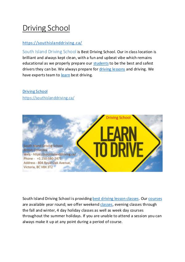 Driving school Driving School