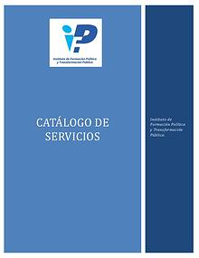 Catálogo de Servicios Instituto de Formación Política
