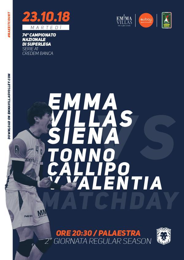 Match Program Emma Villas Siena 2018/2019 2 - Match Program Emma Villas Siena 2018/2019