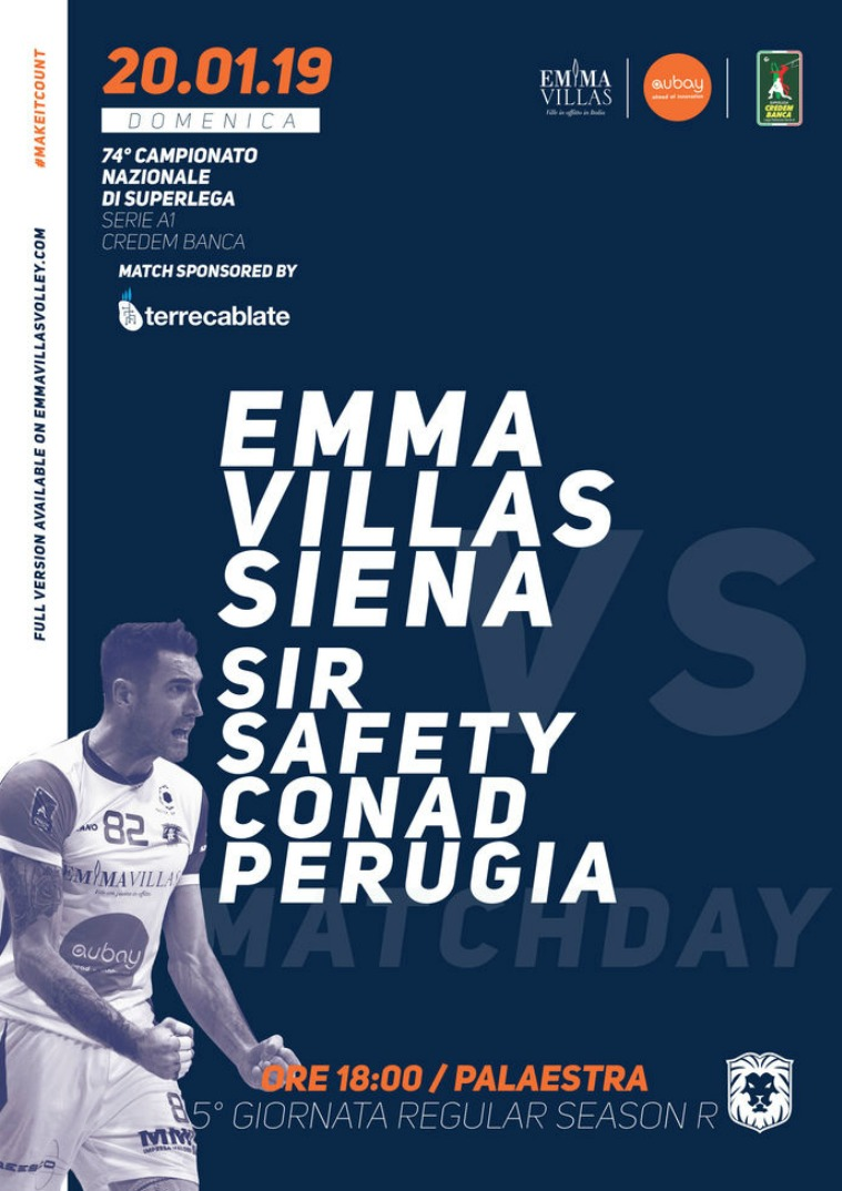 Match Program Emma Villas Siena 2018/2019 5R - Match Program Emma Villas Siena 2018/2019