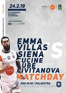 Match Program Emma Villas Siena 2018/2019