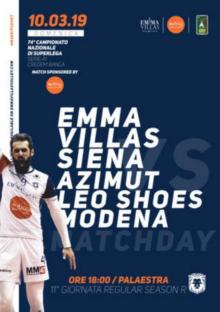 Match Program Emma Villas Siena 2018/2019 11R - Match Program Emma Villas Siena 2018/2019