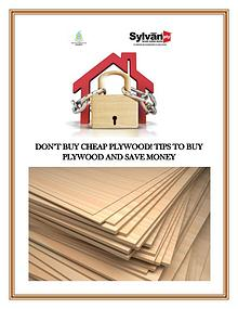 Don't buy cheap plywood! Tips to Buy Plywood and Save Money