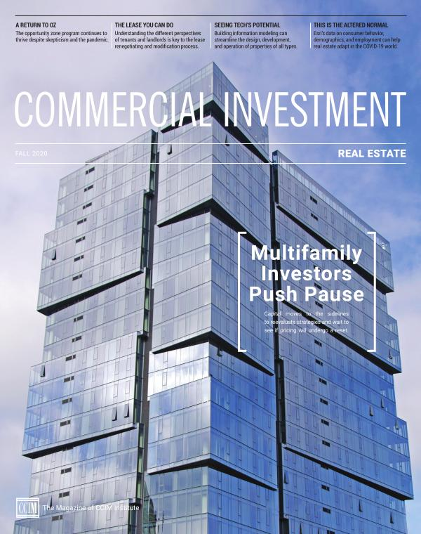 Commercial Investment Real Estate Fall 2020